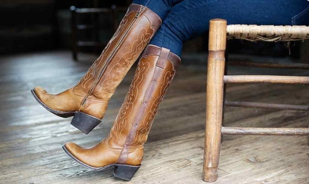 ковбойские сапоги и джинсы с чем носить