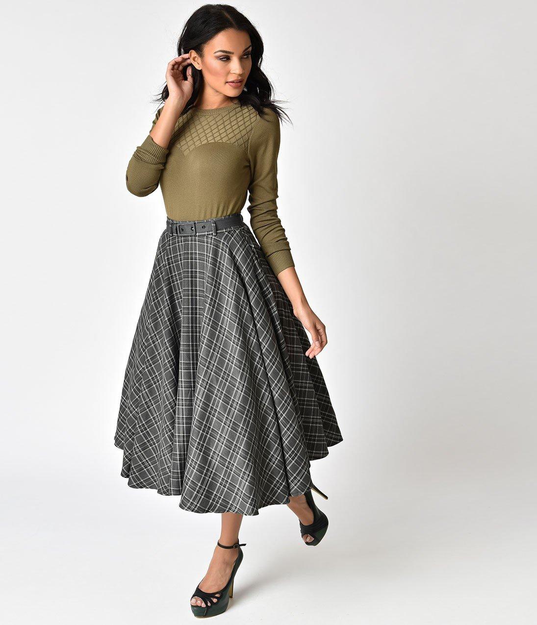 длинная серая шерстяная юбка с чем носить