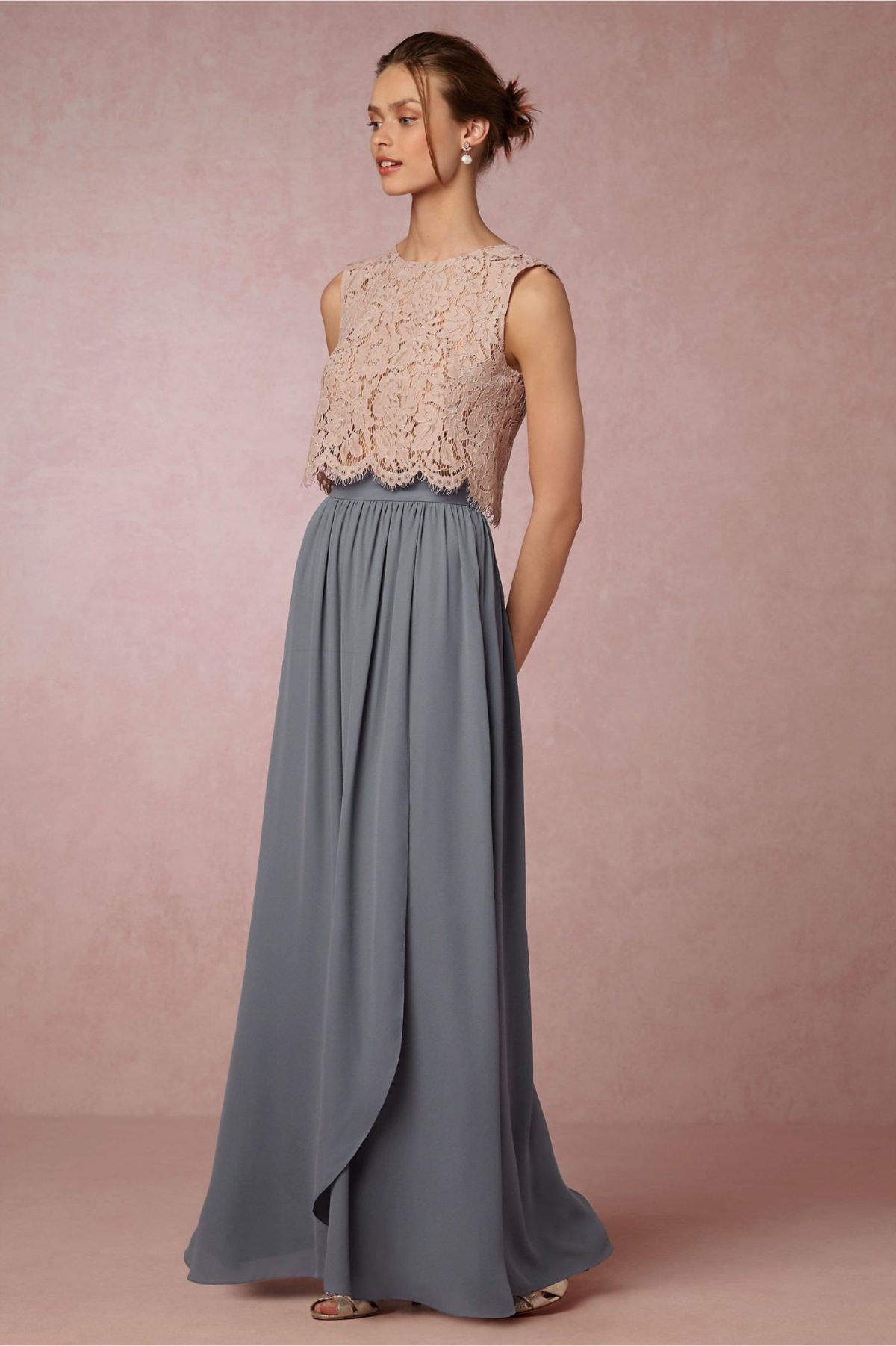 длинная серая юбка с чем носить