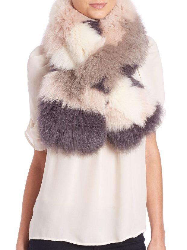 шапки и шарфы осень-зима 2019 2020: объемный многоцветный меховой