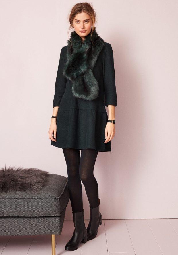 шапки и шарфы осень-зима 2021: темно-зеленый меховой