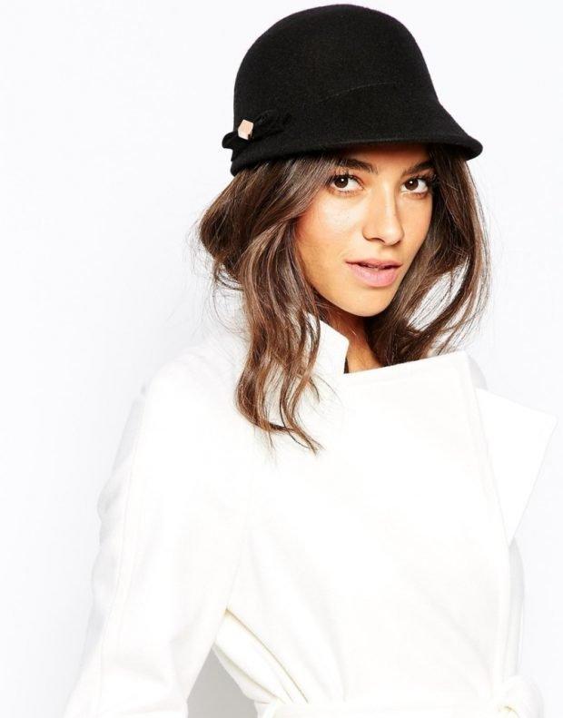 черная женская шляпа