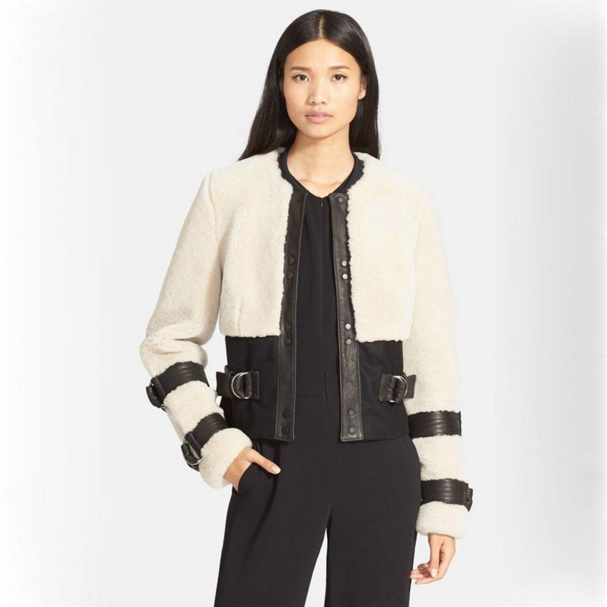 Тренды осень-зима 2018 2019: черно-белая короткая куртка