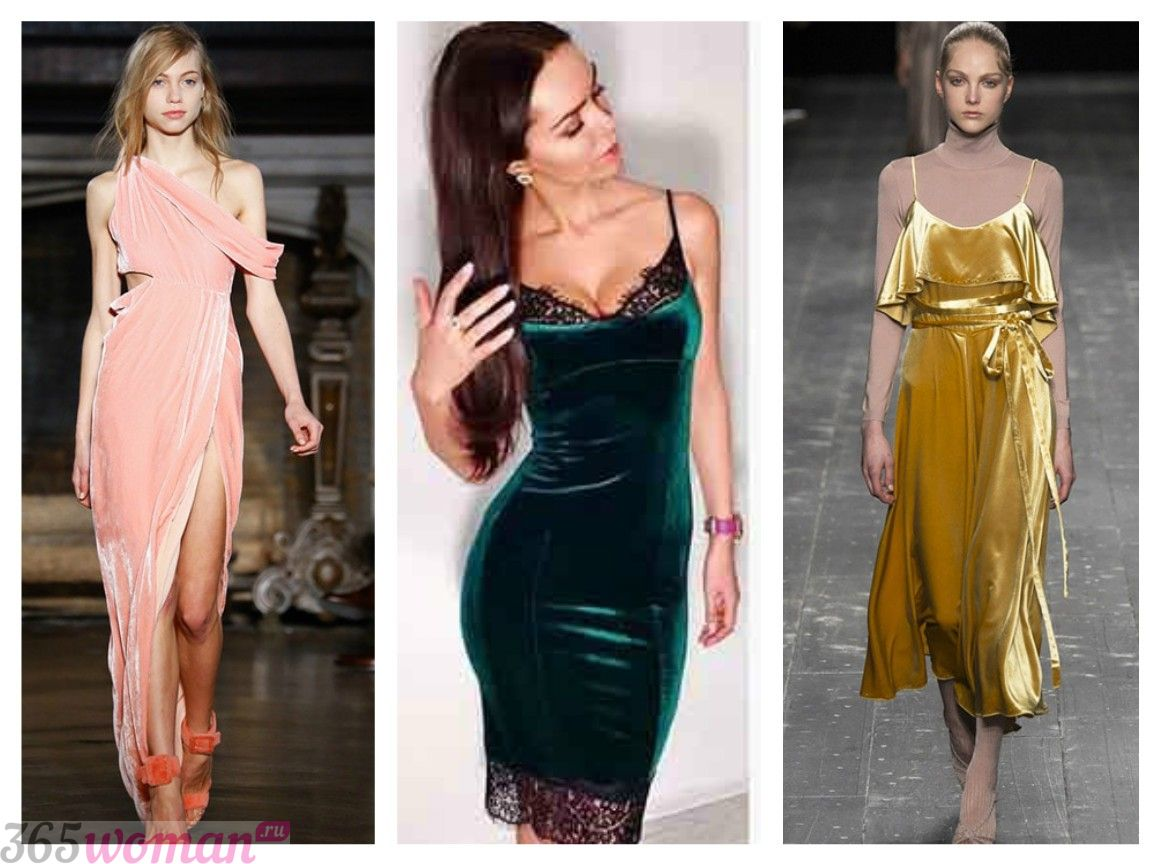 В каком цвете встречать 2019 год свиньи: бархатные платья разных цветов