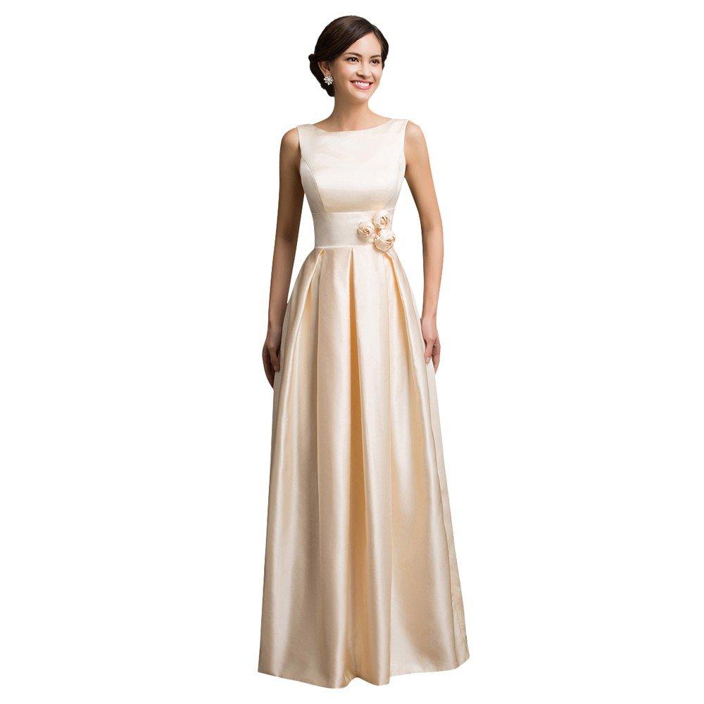 золотистое длинное платье с пышной юбкой