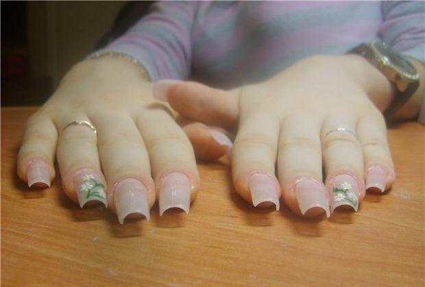 арочное наращивание ногтей фото: форма