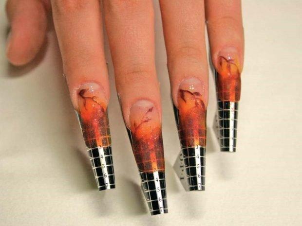 арочное наращивание ногтей фото: форма как делать на пластинах