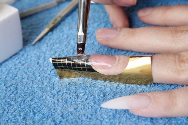 арочное наращивание ногтей фото: форма процесс работы