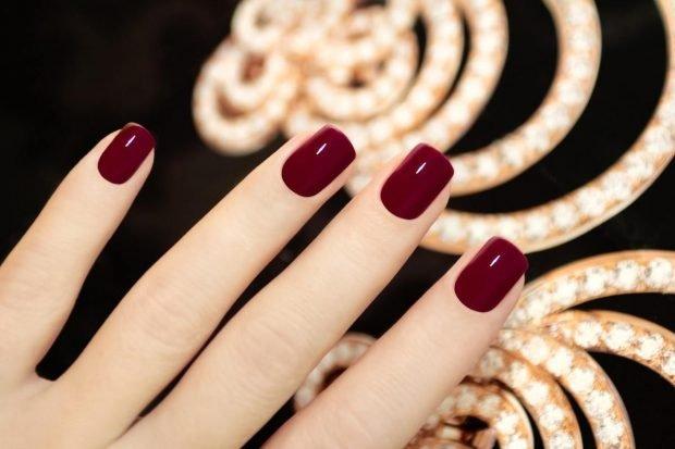 маникюр шеллак 2018 2019 красные ногти