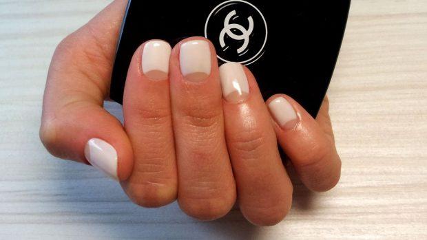 маникюр лунный белый - дизайн ногтей шеллак 2018
