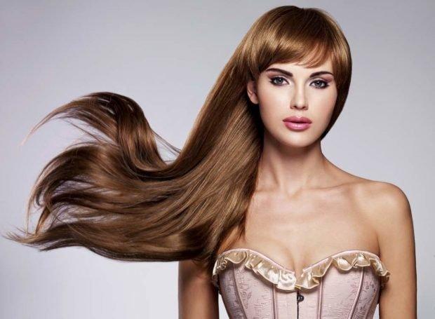 красивые волосы густые
