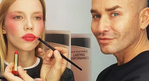 дрейпинг в макияже: красно-розовый