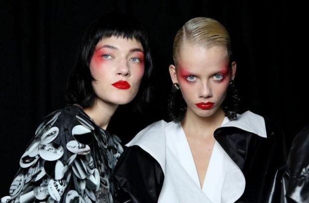 дрейпинг в макияже: красный