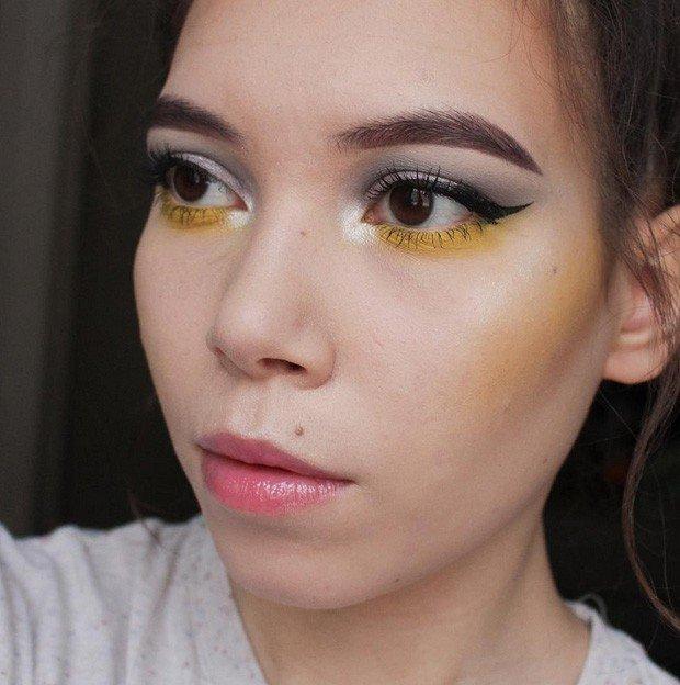 дрейпинг светло-желтый