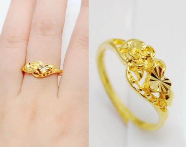 кольцо на среднем пальце золотое