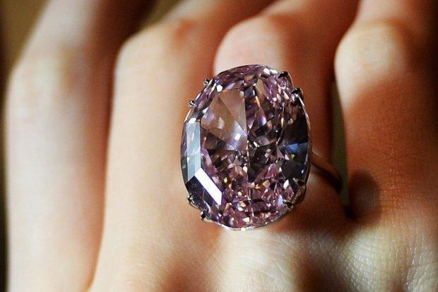 кольцо на среднем пальце с большим камнем