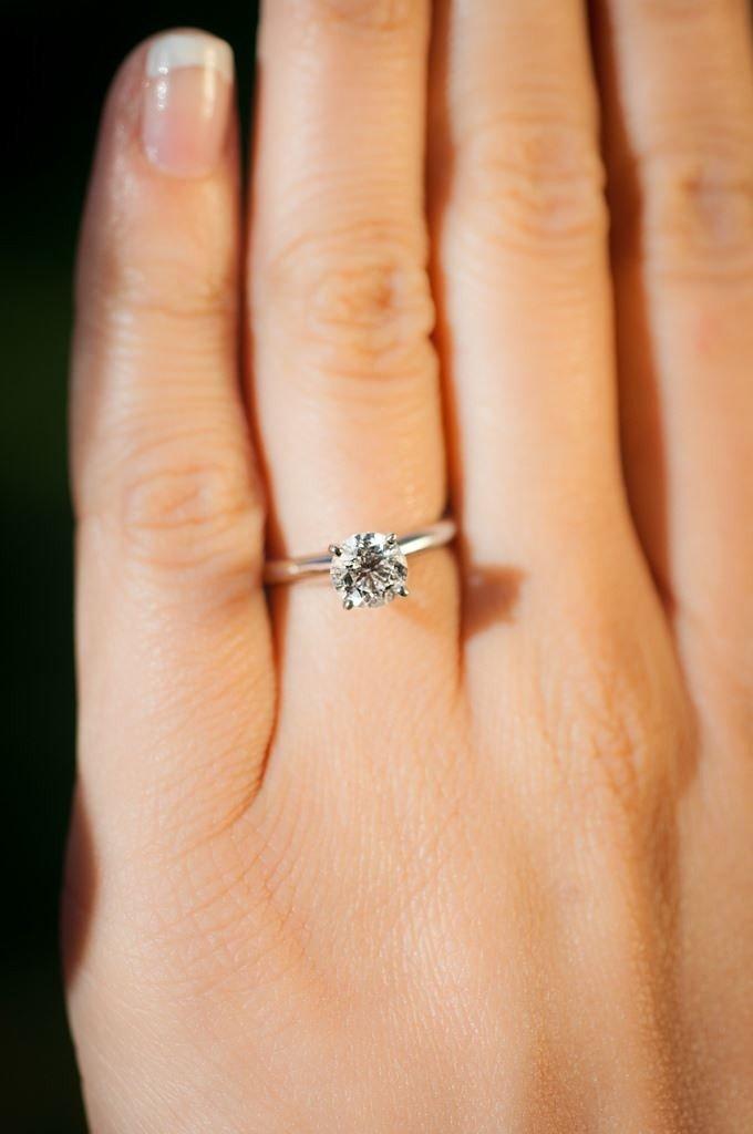 кольцо серебро с небольшим камнем
