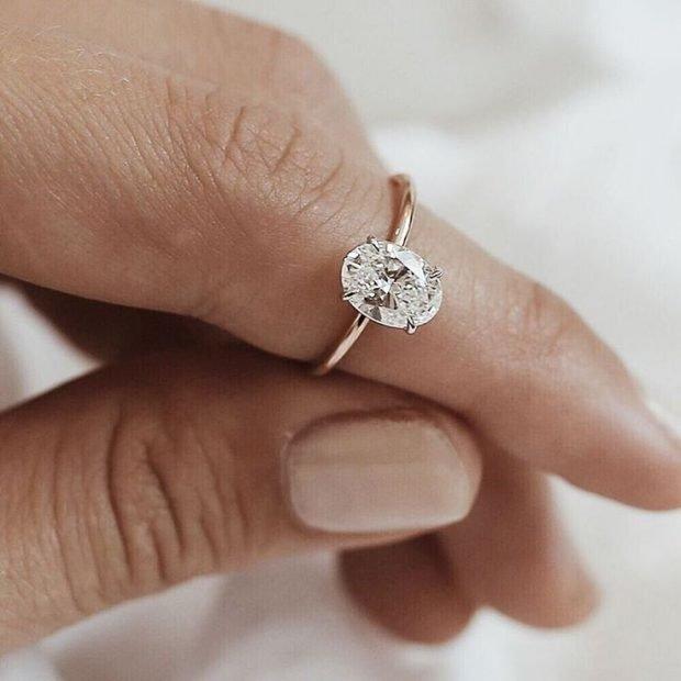 кольцо золотое с камнем овальным