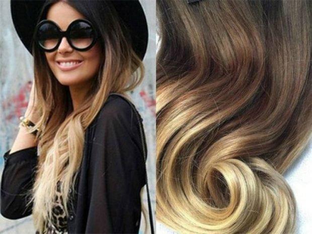 мелирование волос 2020 омбре светлое