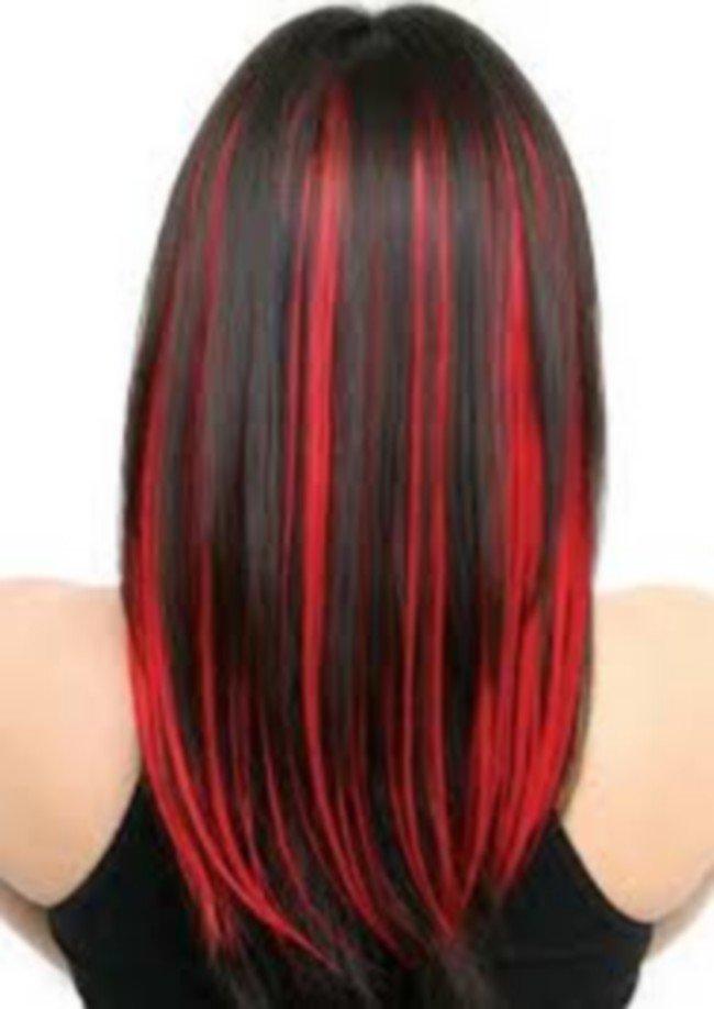 мелирование волос 2019 красное