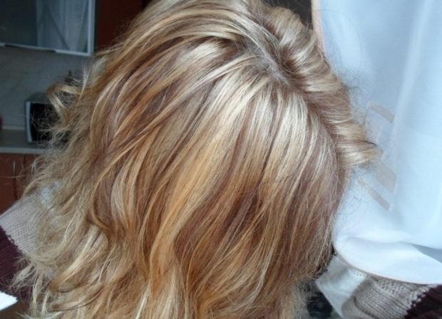 мелирование волос 2019 в два цвета