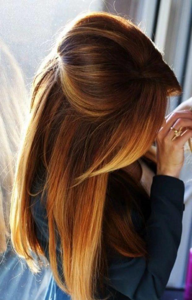 Мелирование волос 2019 рыжее