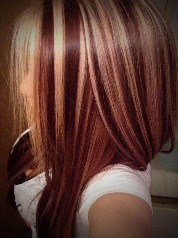 мелирование волос коричневое с белым 2019