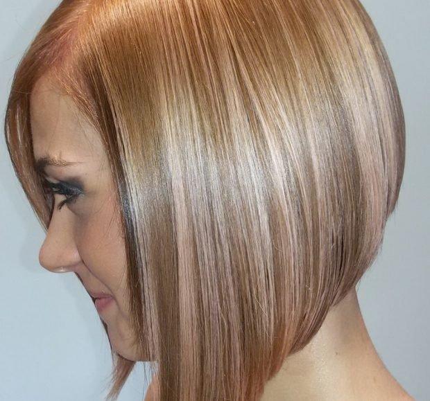 мягкое мелирование волос 2018 в три цвета