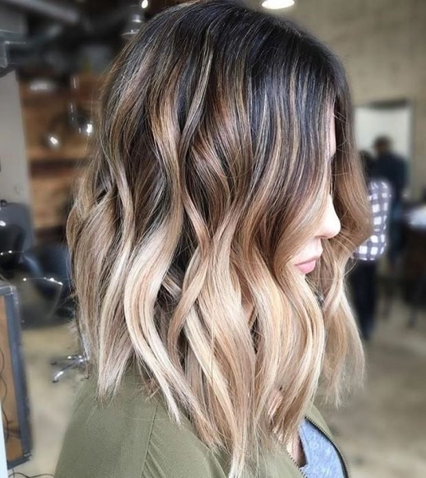 мелирование волос 2020 омбре белое