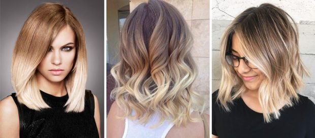 мелирование волос 2019 омбре светлое