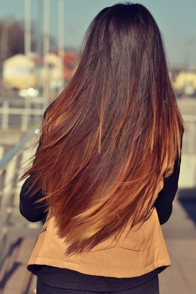мелирование волос 2018 омбре под натуральное