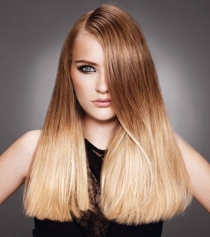 мелирование волос 2018 омбре светлое