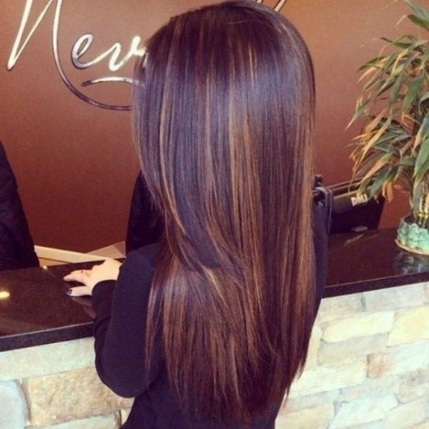 Мелирование волос 2018 коричневое