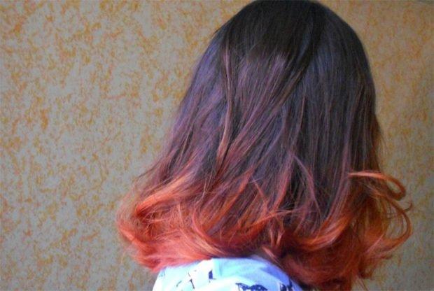 мелирование волос 2018 омбре огненное