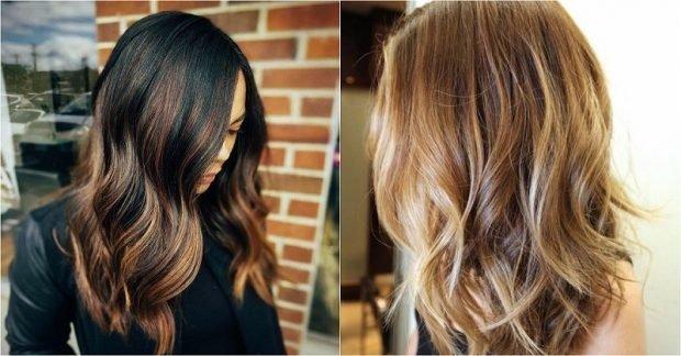 Калифорнийское мелирование на темные и светлые волосы