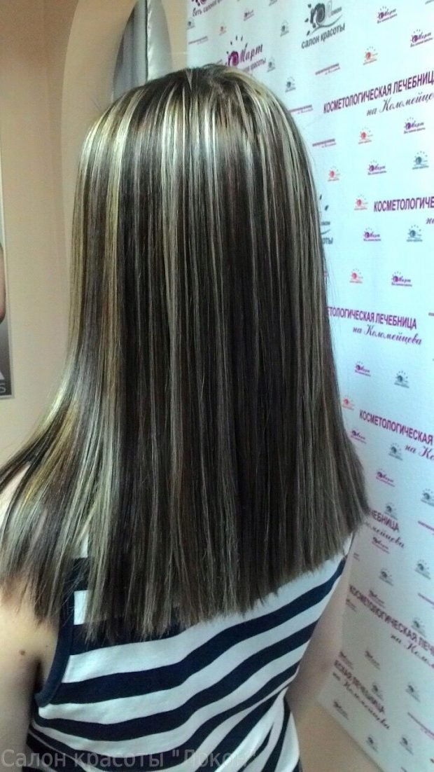Мелирование волос 2019 тонкое белое
