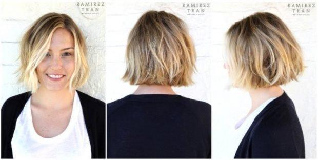 Калифорнийское мелирование белое на короткие волосы