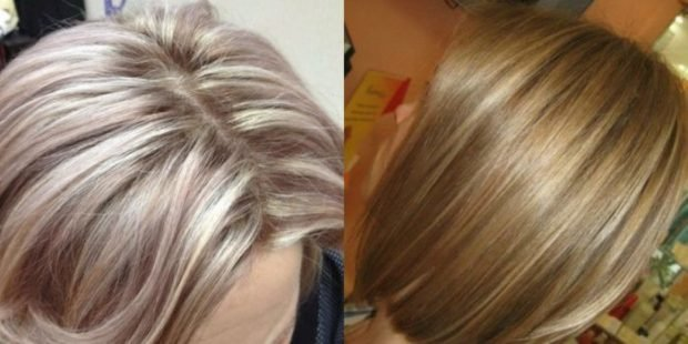 Мелирование волос 2018 густое
