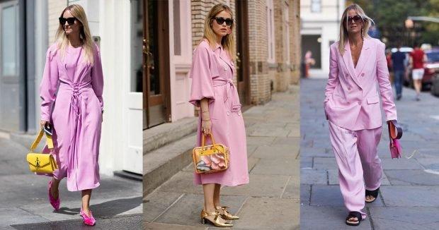 розовая мода легкое пальто костюм брючный свободный