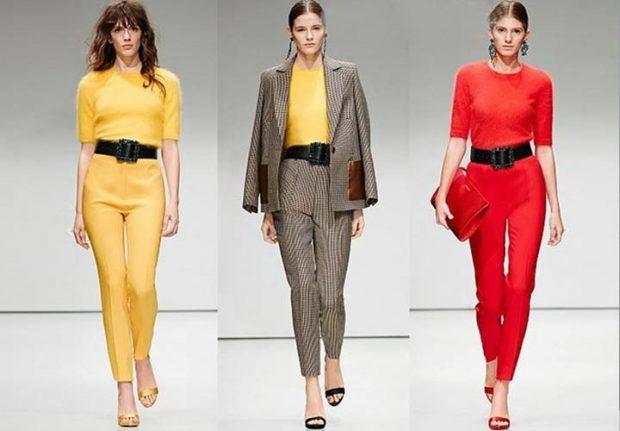 короткие брюки желтые коричневые красные