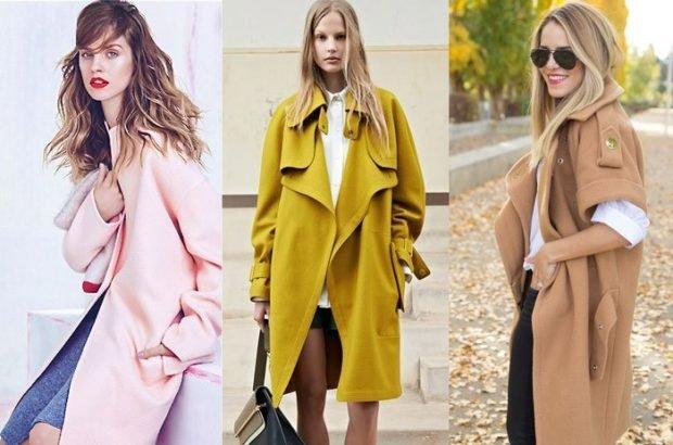 пальто розовое оливковое бежевое
