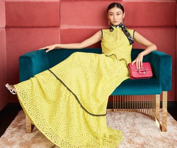 платье желтое в пол без рукава