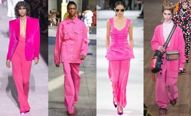 розовая мода брюки жакеты топы