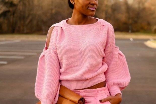 розовая кофта оригинальный рукав