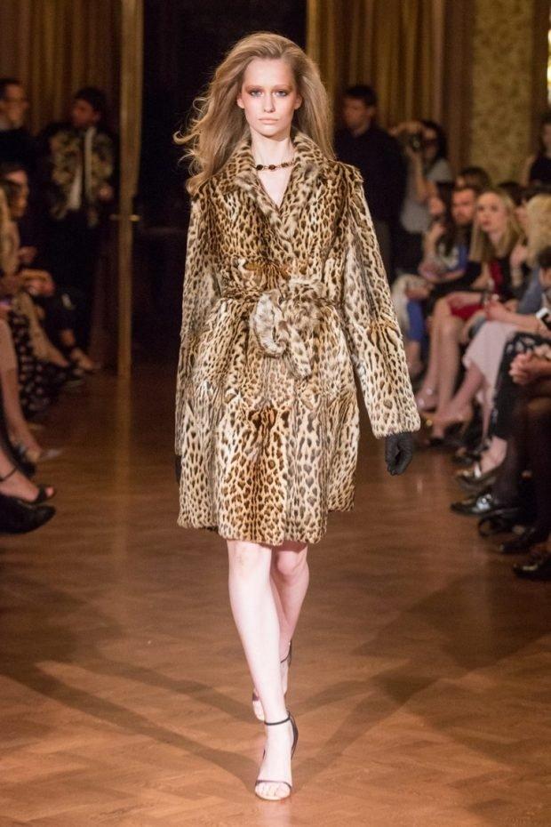 животный принт пальто леопардовый