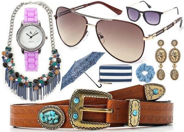 аксессуары женские очки ремень сережки бусы часы