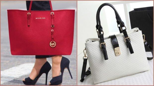аксессуары женские сумка красная белая на коротком и длинном ремне