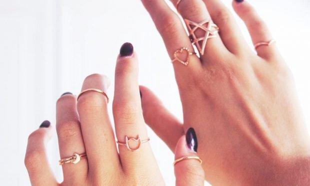 кольца на все пальцы золотые