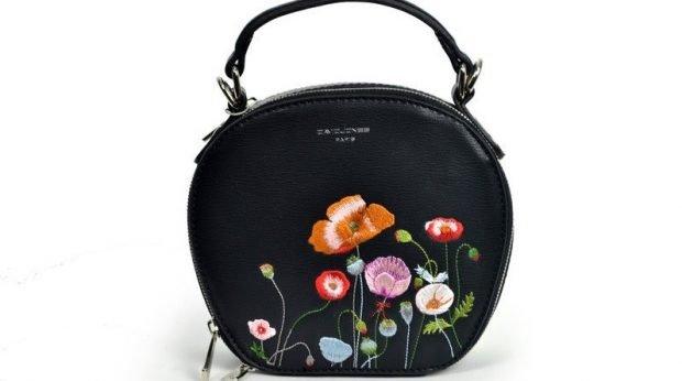 аксессуары женские сумочка круглая с цветами