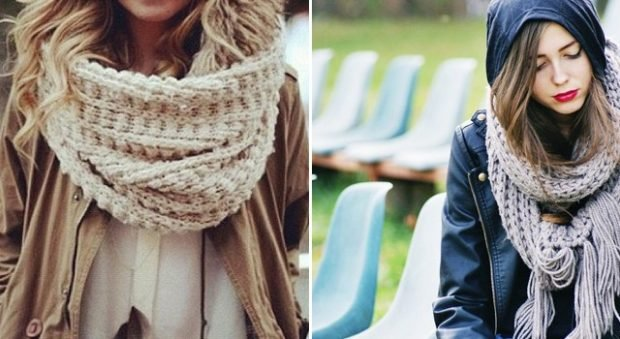 шарф крупная вязка
